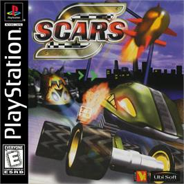 Box cover for S.C.A.R.S. (Super Computer Animal Racing Simulation) on the Sony Playstation.