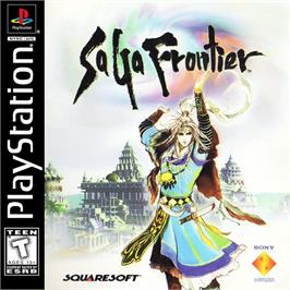 Box cover for Saga Frontier on the Sony Playstation.