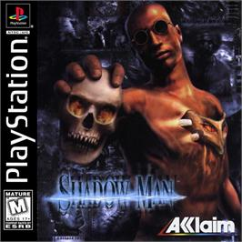 Box cover for Shadow Man on the Sony Playstation.