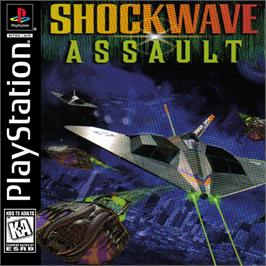 Box cover for Shockwave Assault on the Sony Playstation.