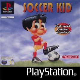 Box cover for Soccer Kid on the Sony Playstation.