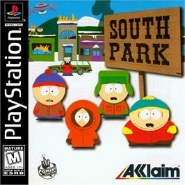 Box cover for South Park on the Sony Playstation.