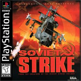 Box cover for Soviet Strike on the Sony Playstation.