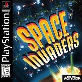Box cover for Space Invaders on the Sony Playstation.