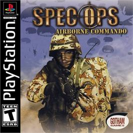 Box cover for Spec Ops: Airborne Commando on the Sony Playstation.