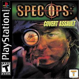 Box cover for Spec Ops: Covert Assault on the Sony Playstation.