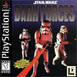 Box cover for Star Wars: Dark Forces on the Sony Playstation.