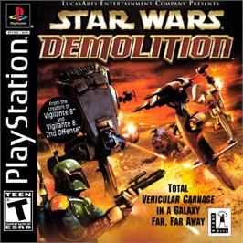Box cover for Star Wars: Demolition on the Sony Playstation.