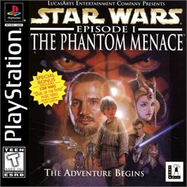 Box cover for Star Wars: Episode I - The Phantom Menace on the Sony Playstation.