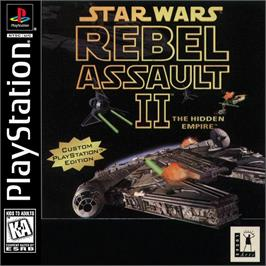 Box cover for Star Wars: Rebel Assault II - The Hidden Empire on the Sony Playstation.