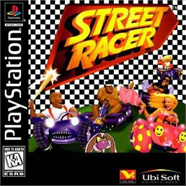 Box cover for Street Racer on the Sony Playstation.