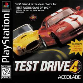 Box cover for Test Drive 4 on the Sony Playstation.