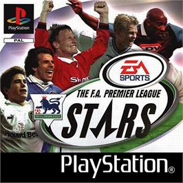 Box cover for The F.A. Premier League Stars on the Sony Playstation.