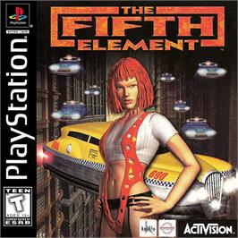 Box cover for The Fifth Element on the Sony Playstation.