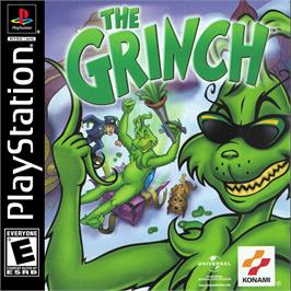 Box cover for The Grinch on the Sony Playstation.