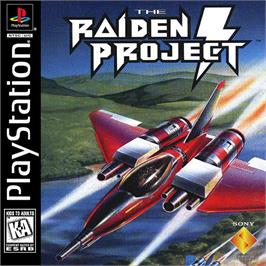 Box cover for The Raiden Project on the Sony Playstation.
