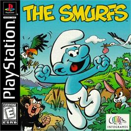 Box cover for The Smurfs on the Sony Playstation.