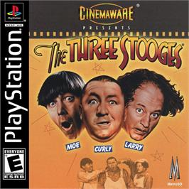 Box cover for The Three Stooges on the Sony Playstation.