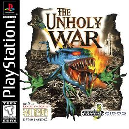 Box cover for The Unholy War on the Sony Playstation.