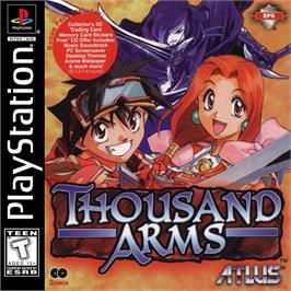 Box cover for Thousand Arms on the Sony Playstation.