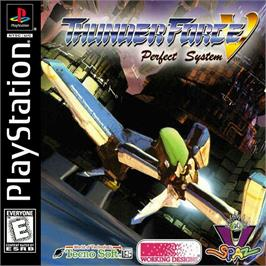 Box cover for Thunder Force V: Perfect System on the Sony Playstation.