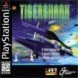 Box cover for Tigershark on the Sony Playstation.