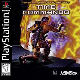 Box cover for Time Commando on the Sony Playstation.