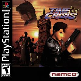 Box cover for Time Crisis on the Sony Playstation.
