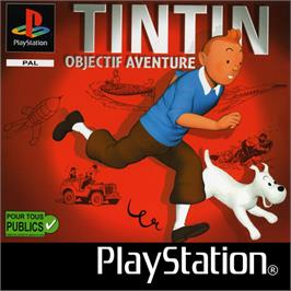 Box cover for TinTin: Destination Adventure on the Sony Playstation.