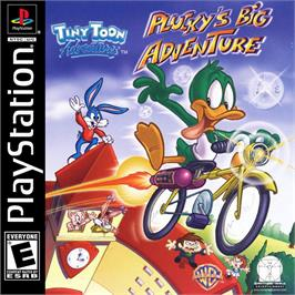 Box cover for Tiny Toon Adventures: Plucky's Big Adventure on the Sony Playstation.