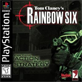 Box cover for Tom Clancy's Rainbow Six on the Sony Playstation.