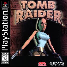 Box cover for Tomb Raider on the Sony Playstation.
