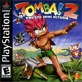 Box cover for Tomba! 2: The Evil Swine Return on the Sony Playstation.