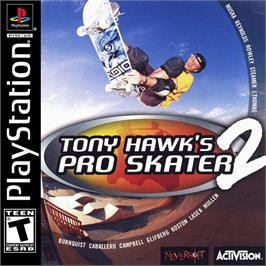 Box cover for Tony Hawk's Pro Skater 2 on the Sony Playstation.
