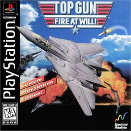 Box cover for Top Gun: Fire at Will on the Sony Playstation.