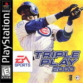 Box cover for Triple Play 2000 on the Sony Playstation.