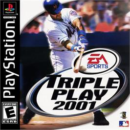 Box cover for Triple Play 2001 on the Sony Playstation.