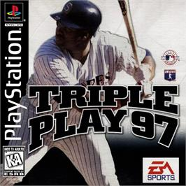 Box cover for Triple Play 97 on the Sony Playstation.