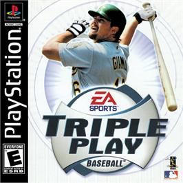 Box cover for Triple Play Baseball on the Sony Playstation.