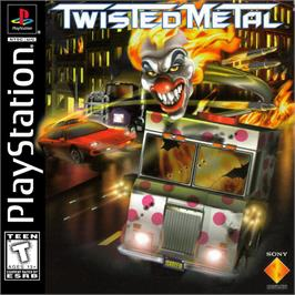 Box cover for Twisted Metal on the Sony Playstation.