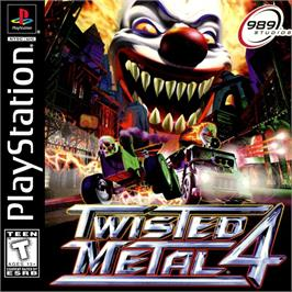 Box cover for Twisted Metal 4 on the Sony Playstation.