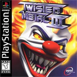 Box cover for Twisted Metal III on the Sony Playstation.