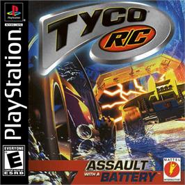 Box cover for Tyco R/C: Assault with a Battery on the Sony Playstation.
