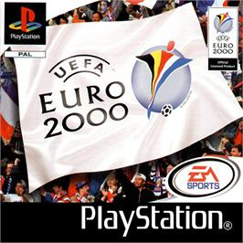 Box cover for UEFA Euro 2000 on the Sony Playstation.