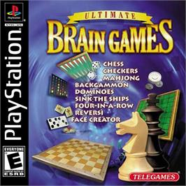 Box cover for Ultimate Brain Games on the Sony Playstation.