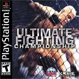 Box cover for Ultimate Fighting Championship on the Sony Playstation.