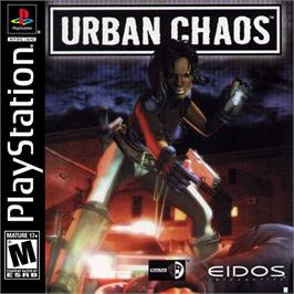 Box cover for Urban Chaos on the Sony Playstation.