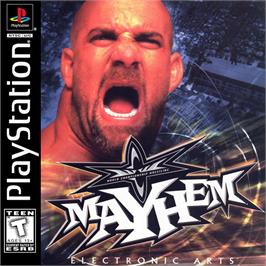 Box cover for WCW Mayhem on the Sony Playstation.