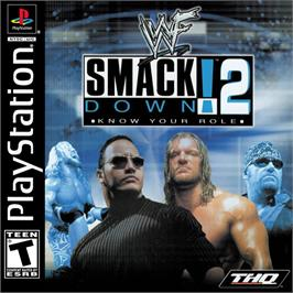 Box cover for WWF Smackdown! 2: Know Your Role on the Sony Playstation.