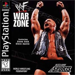 Box cover for WWF War Zone on the Sony Playstation.